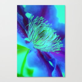 Flower Dreamer Blue Canvas Print