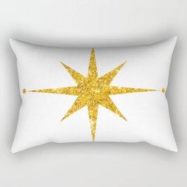 gold 8 point star Rectangular Pillow