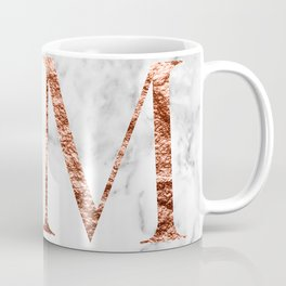 Monogram rose gold marble M Coffee Mug