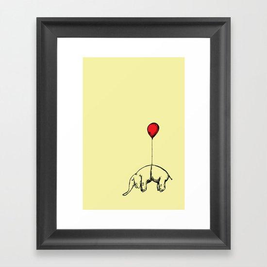 Red Elephant Framed Art Print
