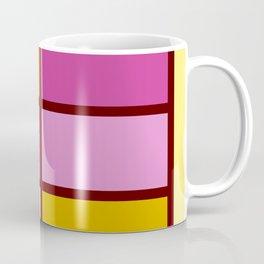 Mondrianista yellow fuchsia Coffee Mug
