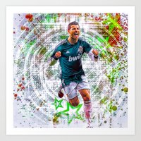 ronaldo Art Prints featuring VIVA RONALDO by Cr7izbest