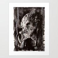 predator Art Prints featuring Predator by Stephanie Nuzzolilo