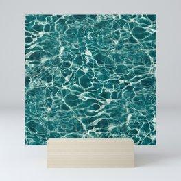 Aqua Underwater Wavy Rippling Water Mini Art Print
