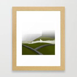 Creatures of the North: Unicorn Framed Art Print