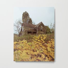 Abandoned Victorian House in Autumn Metal Print
