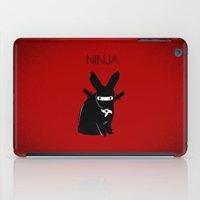 ninja iPad Cases featuring NINJA by RAGING BUNNIES