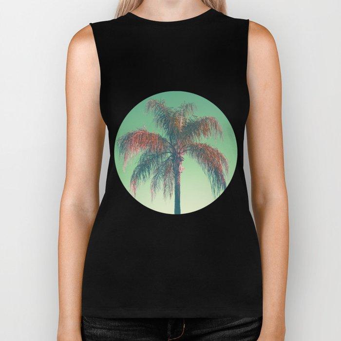 Red palm tree Biker Tank