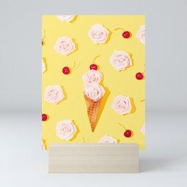 Abstract Flower Ice Cream Mini Art Print