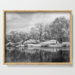 Central Park in Infrared Serving Tray