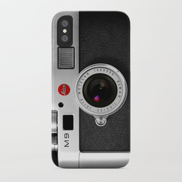 classic retro Black silver Leather vintage camera iPhone 4 4s 5 5c, ipod, ipad case iPhone Case