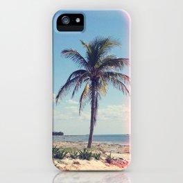 Palm Tree Light Leak Color Nature Photography iPhone Case