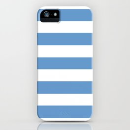 Livid - solid color - white stripes pattern iPhone Case