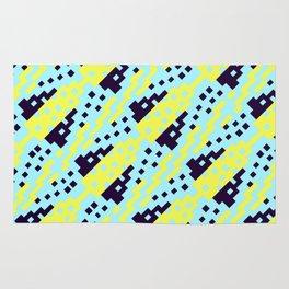 Chocktaw Geometric Square Cutout Pattern - Electric Ray Rug