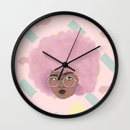 Bubblegum Girl Wall Clock