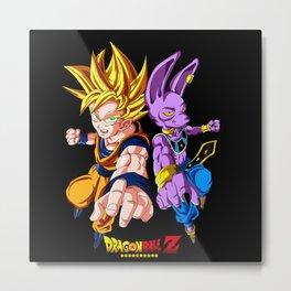 Goku and Beerus dbz Metal Print