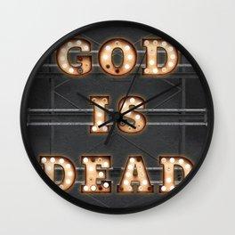 God is Dead - Bulb Wall Clock