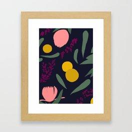 Abtract Garden by Night Framed Art Print
