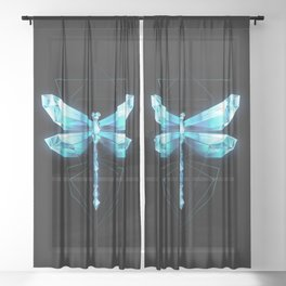 Ice Dragonfly Sheer Curtain