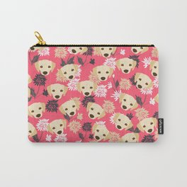 Cute Yellow Labrador Dog Carry-All Pouch