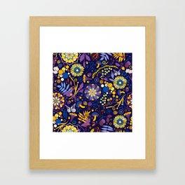 Ripe autumn – purple and yellow Framed Art Print
