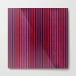 """""""Rose & Violet Burlap Vertical Lines"""" Metal Print"""