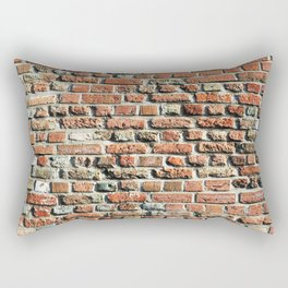 Bricks pattern 2 interior design for your urban home BRICK WALL RED STONE BACKGROUND TEXTURE Rectangular Pillow