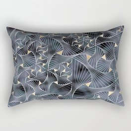 Reverie (in Grey and Gold) Rectangular Pillow
