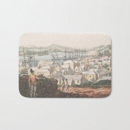 Vintage Pictorial Map of St George (1816) Bath Mat
