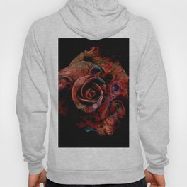 Fluid Nature - Marbled Red Rose Hoody