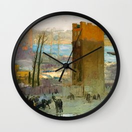 George Bellows - The Lone Tenement, 1909 Wall Clock
