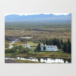 A View from Thingvellir Canvas Print