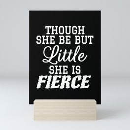 Little & Fierce (Black & White) Mini Art Print
