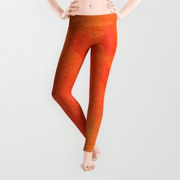 Pure Sunshine Orange and Yellow Abstract Watercolour Leggings