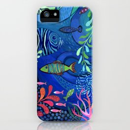 Botanical Sea Garden iPhone Case