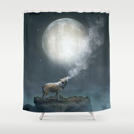 The Light of Starry Dreams Shower Curtain