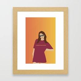 Claremont Mckenna Scripps Girl Framed Art Print