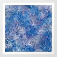 Frozen Leaves 11 Art Print