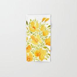 Watercolor California poppies (Quad set, #2) Hand & Bath Towel