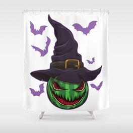 Halloween Watermelon Witch - Halloween Party Shower Curtain