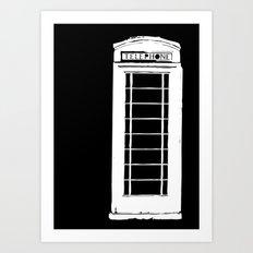 Architecture - Telephone box Art Print