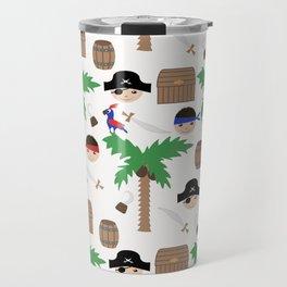 Seamless pirate colorful kids retro background pattern Travel Mug