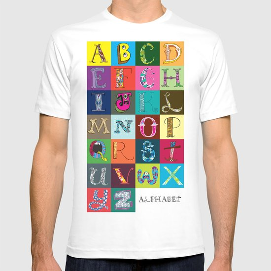 Hand Drawn Alphabet T-shirt