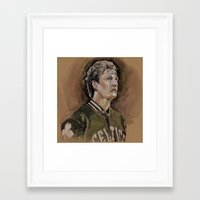 larry Framed Art Prints featuring Larry by Chelsey Boehnke