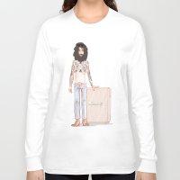 steve mcqueen Long Sleeve T-shirts featuring Steve by Zsolt Czeizler