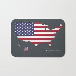 Modern Map - United States of America USA Bath Mat