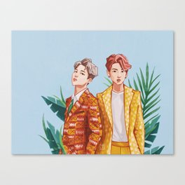 BTS Jungkook and Jimin Canvas Print