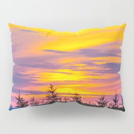 Sunset above the forest Pillow Sham