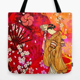 日没 (sunset) Tote Bag