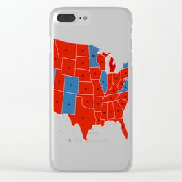 Donald Trump 45th US President - USA Map Election 2016 Clear iPhone Case